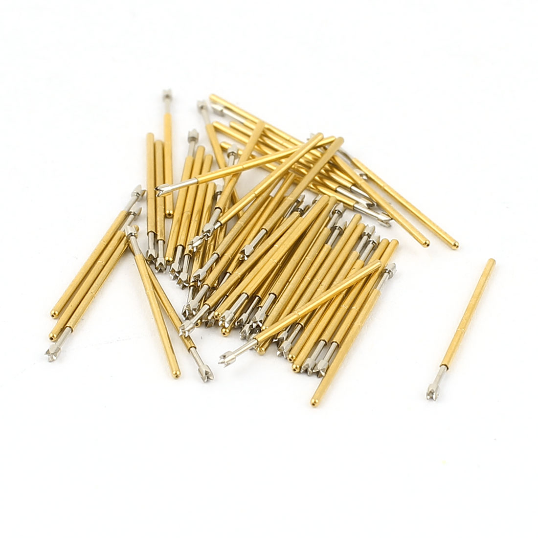 50 Pcs P50-Q2 0.9mm 4-Point Crown Tip Spring Testing Probes Pin