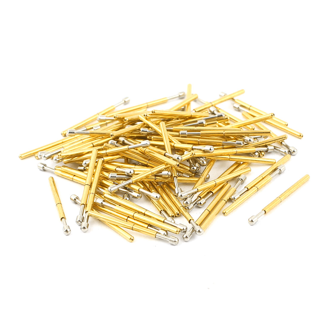 100 Pcs P75-D2 1.3mm Spherical Tip Spring Testing Probes Pin 16.5mm Length