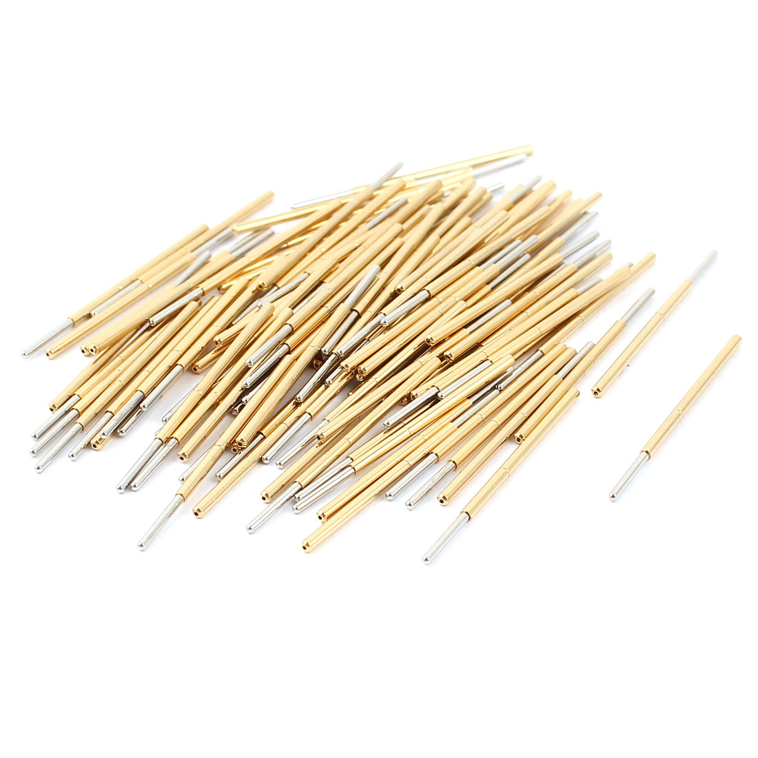 100 Pcs P100-J1 1.0mm Spherical Tip Spring Testing Probes Pin 33.3mm Length