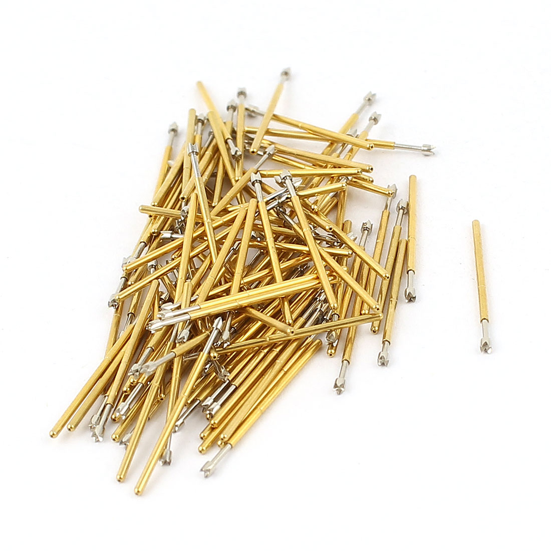100 Pcs P50-Q2 0.9mm 4-Point Crown Tip Spring Testing Probes Pin