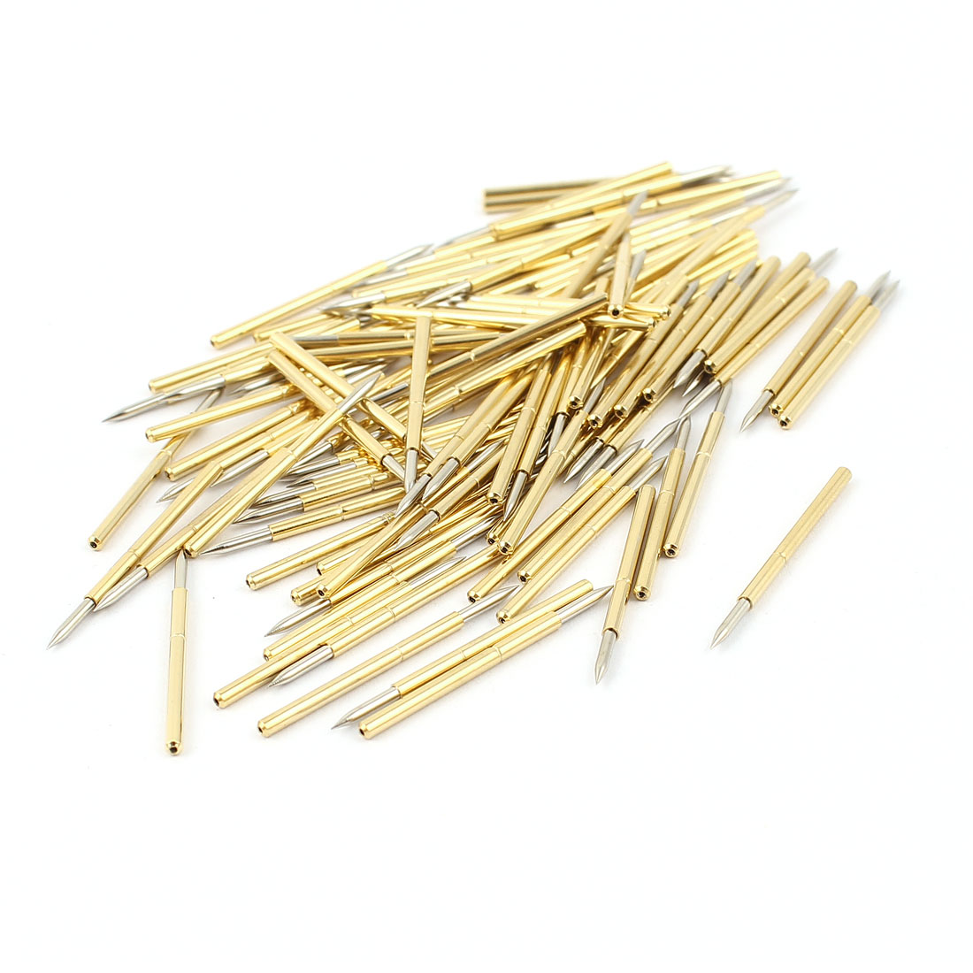 100 Pcs P160-B1 1.0mm Spear Tip Spring Testing Probes Pin 24.5mm Length