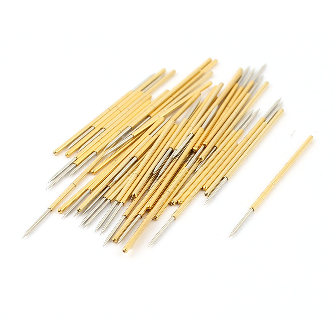 50 Pcs PL75-B1 0.74mm Spear Tip Spring Testing Probes Pin 33mm Length