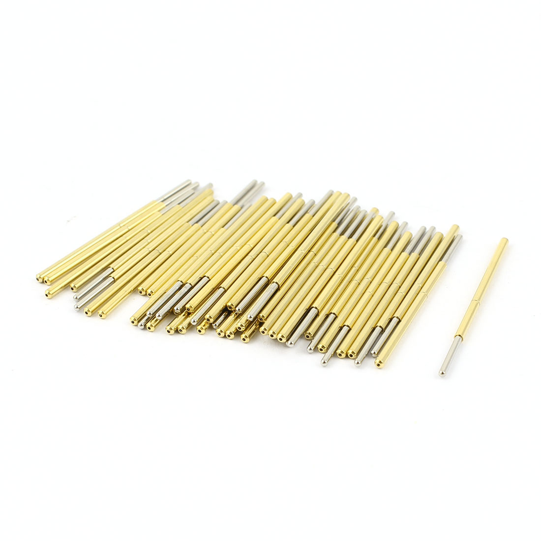 50 Pcs P100-J1 1.0mm Spherical Tip Spring Testing Probes Pin 33.3mm Length