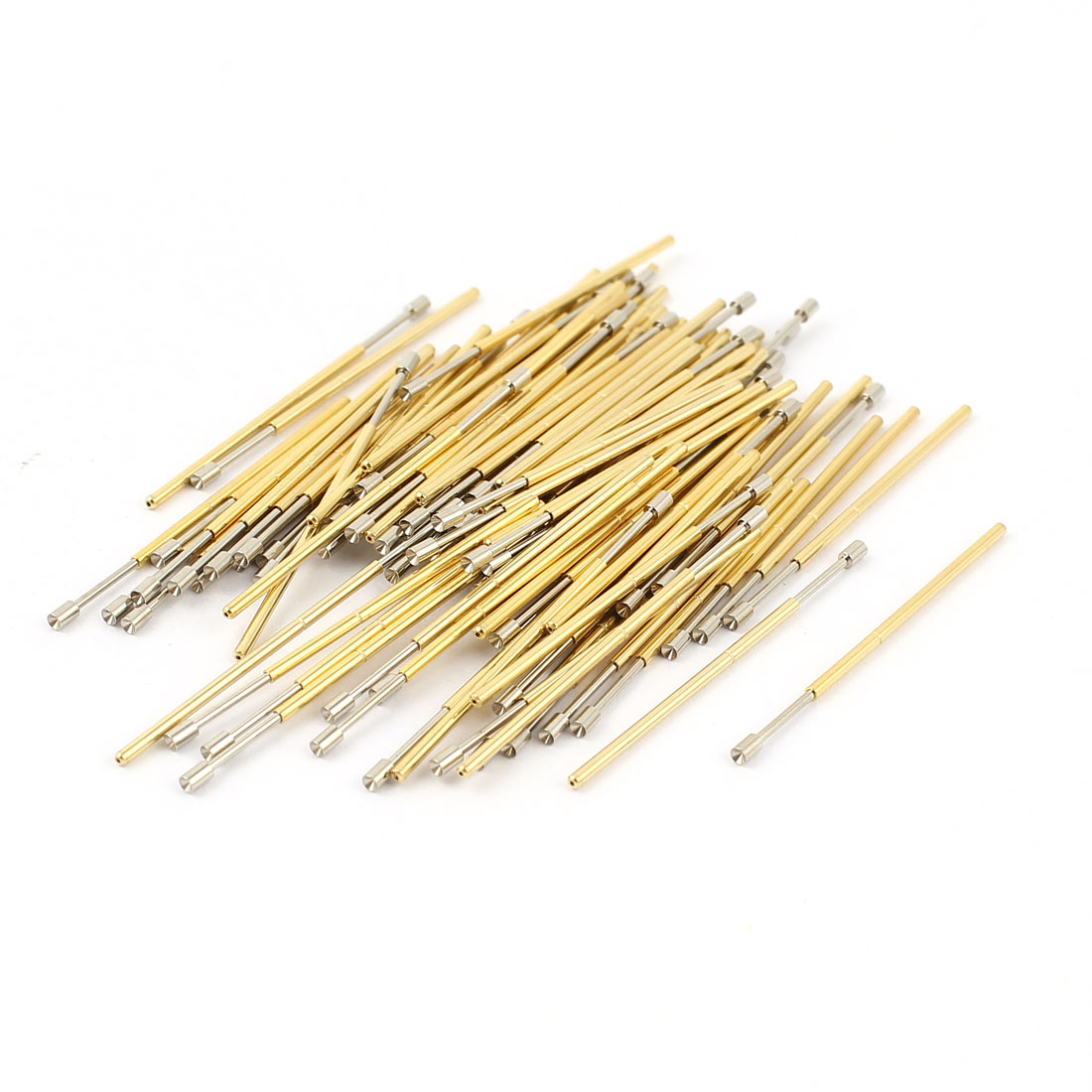 100 Pcs PL75-A2 1.3mm Concave Tip Spring Testing Probes Pin 33mm Length