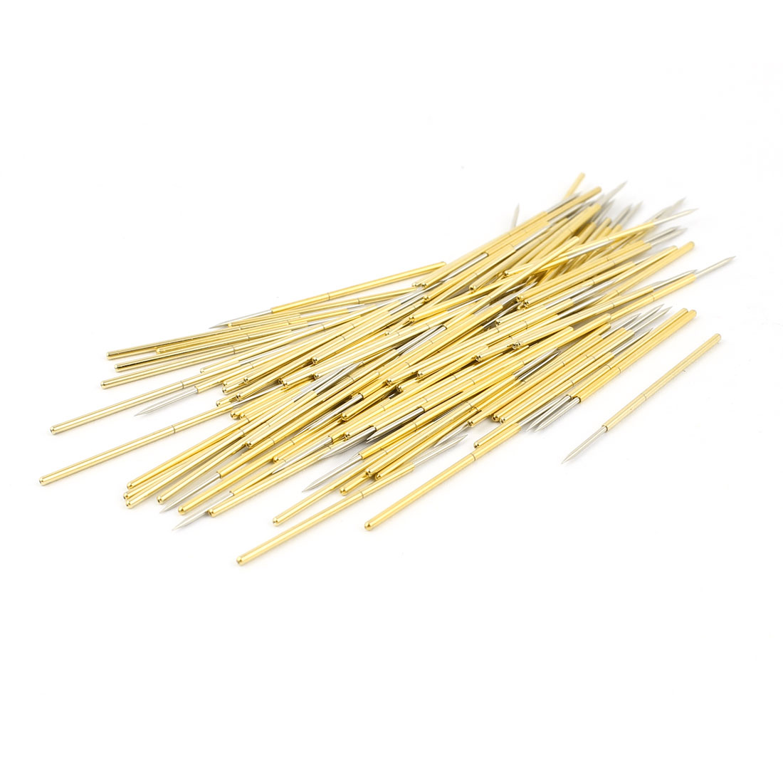 100 Pcs PL75-B1 0.74mm Spear Tip Spring Testing Probes Pin 33mm Length