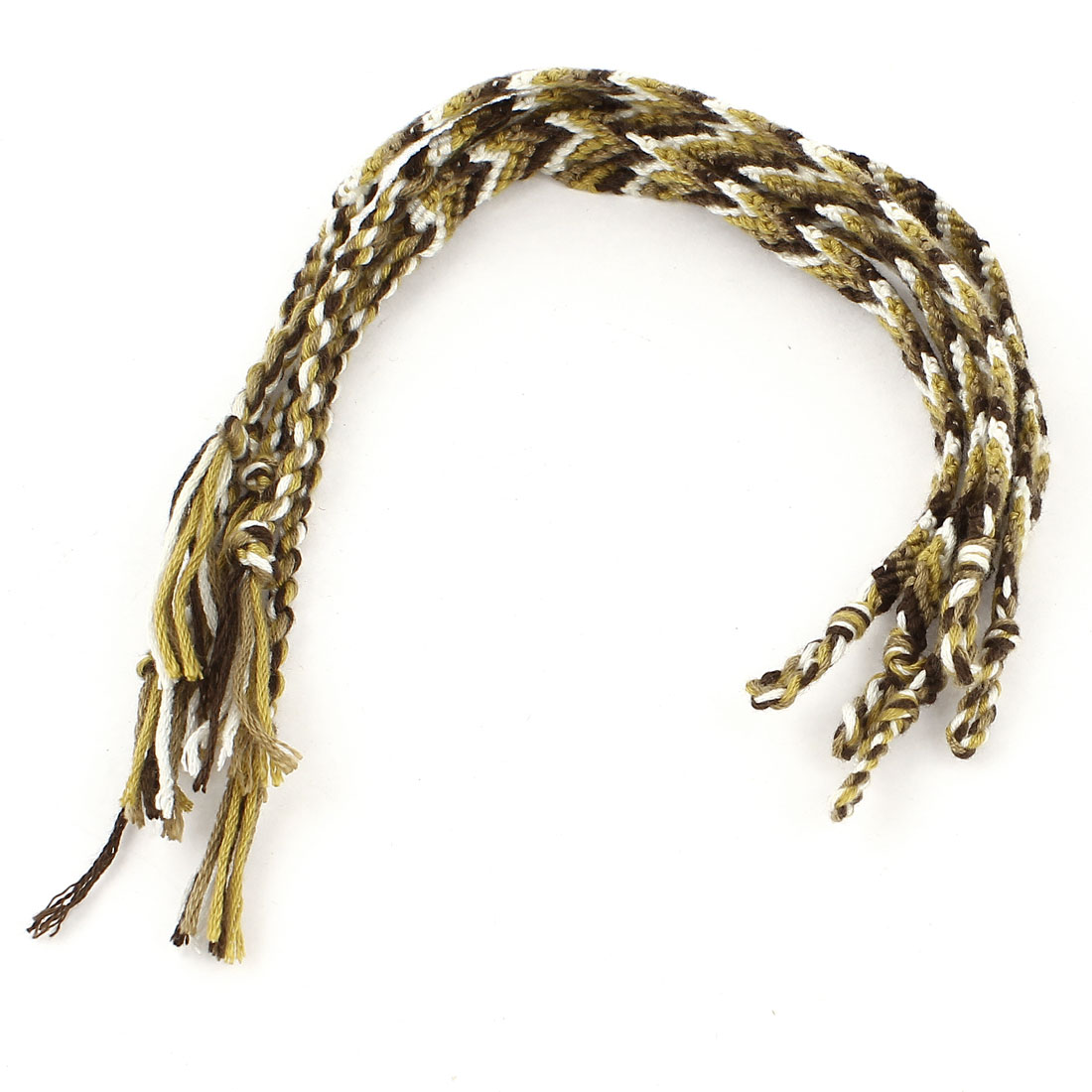 Ladies 4 Colors Acryic Cord Handwork Braided Wrist Accent Bracelet 5 Pcs