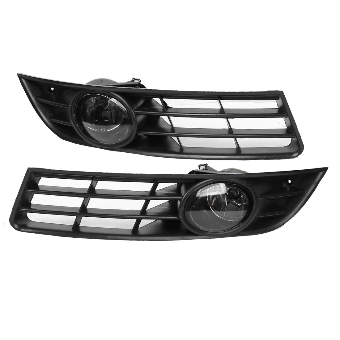 2 Pcs Front Bumper Grille Fog Light Insert Driver for 2006-2010 Passat
