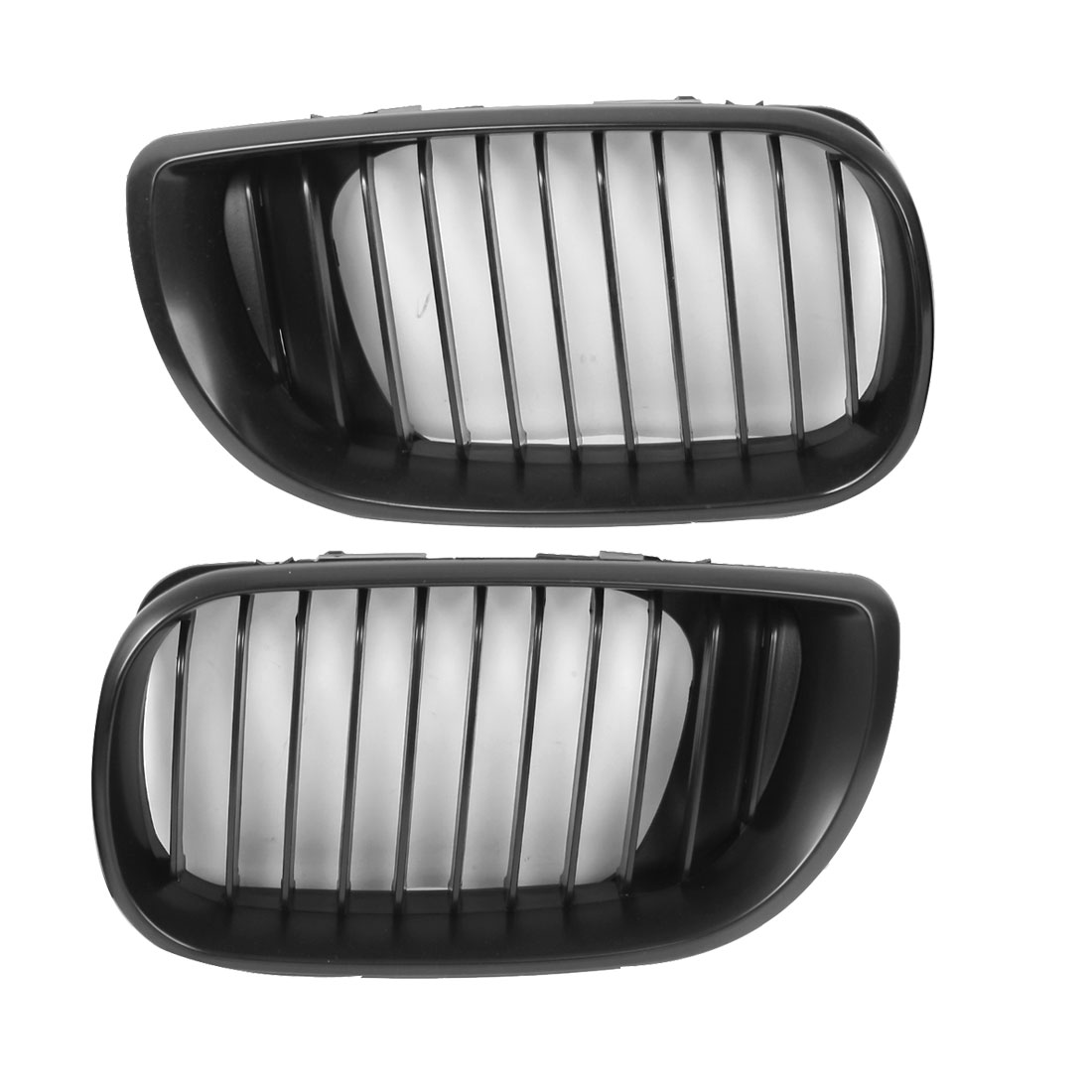 2 Pcs Front Bumper Right Left Fog Light Grill Covers Kidney Grille for BMW E46