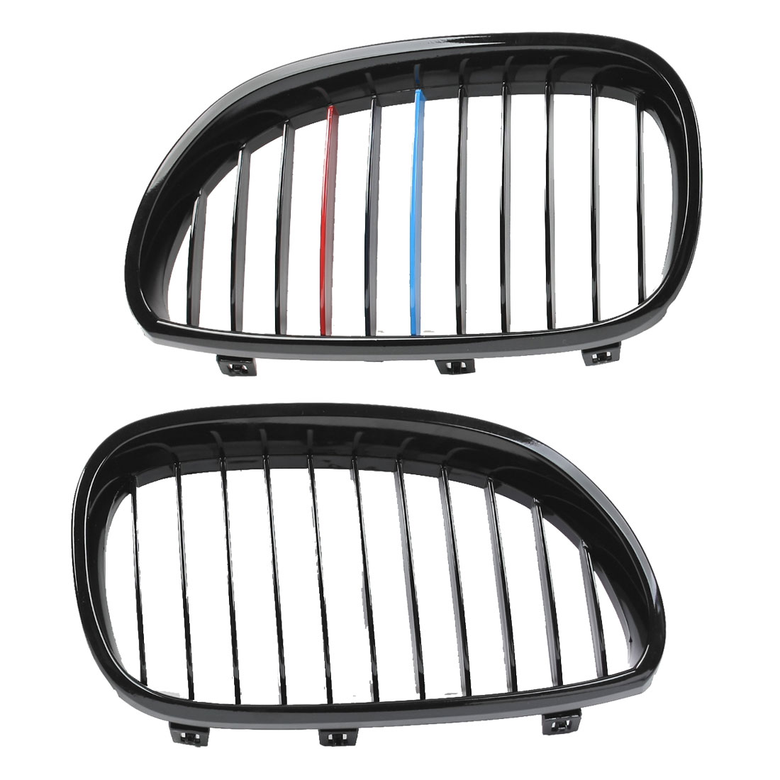 2 Pcs Bumper Right Left Kidney Grille for 2004-2010 BMW 525i