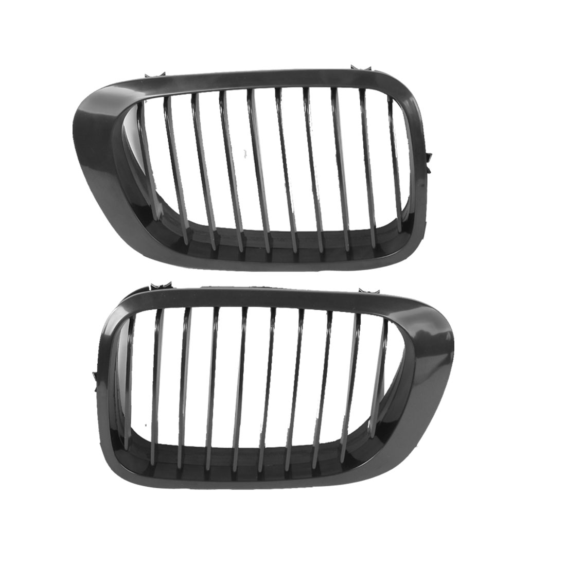 2 Pcs Front Bumper Kidney Grill Grille for 1998-2001 BMW E46
