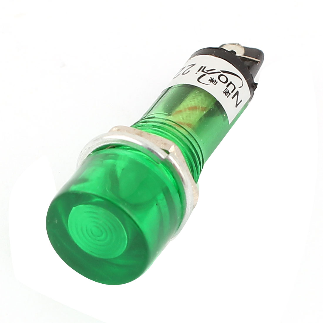 AC 220V Plastic Shell Green Signal Pilot Lamp Mini Indicator Light