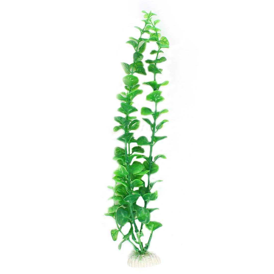 "13.4"" High Plastic Aquarium Emulation Underwater Grass Plants Ornament Green"