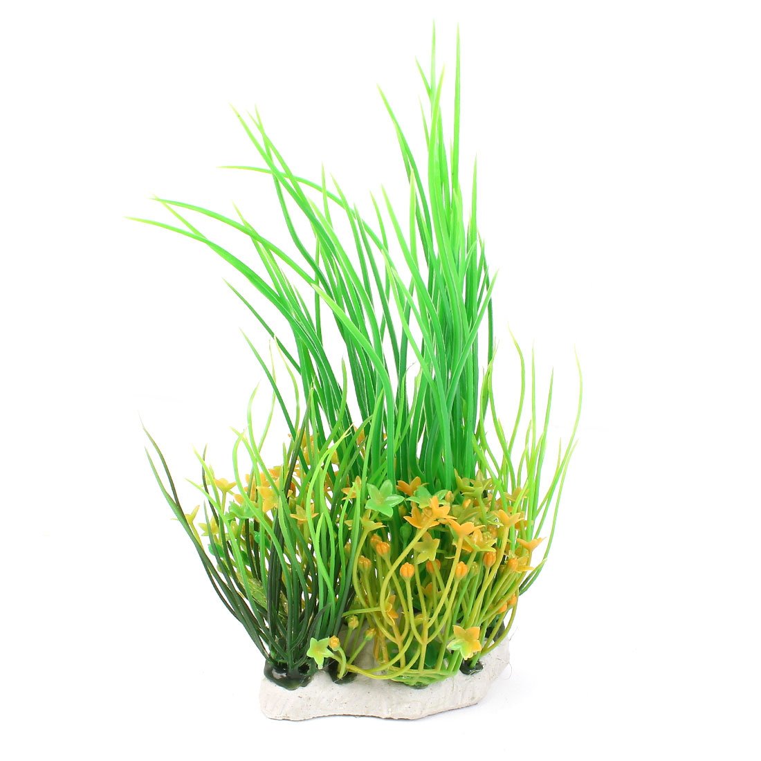 "8.3"" High Plastic Fish Tank Emulation Flower Detail Underwater Grass Green"