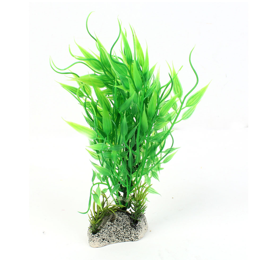 "6.3"" High Plastic Fish Tank Emulation Underwater Grass Plants Decoration Green"