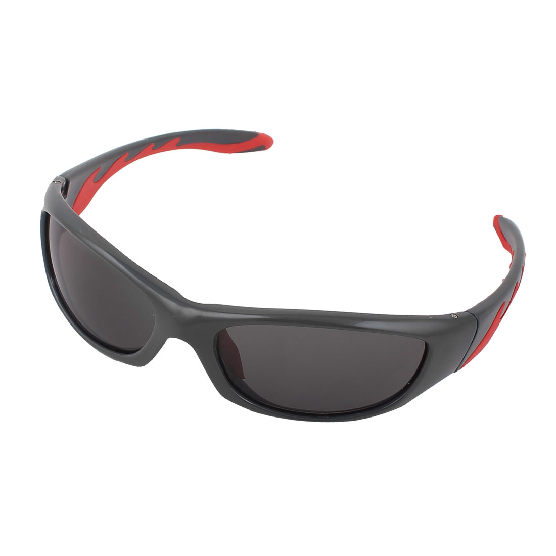Man Plastic Full Rim Rectangle Lens Glasses Sunglasses Eyewear Gray Red