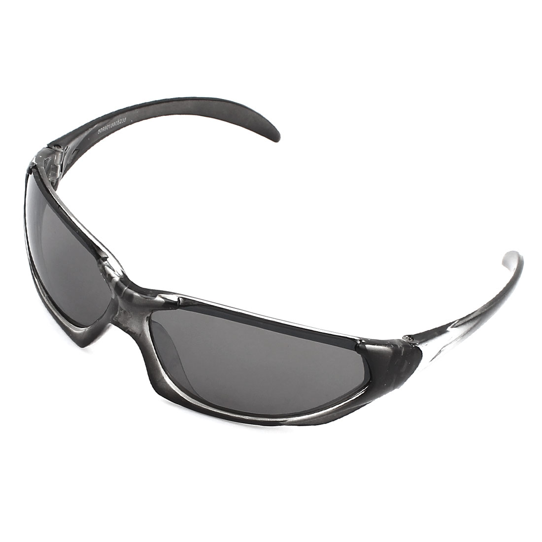Men Plastic Full Rim Rectangle Lens Glasses Sunglasses Eyewear Gray