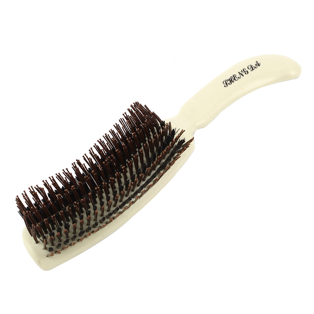 Home Household Beige Platics Handle Brush Cleaning Tool Brown