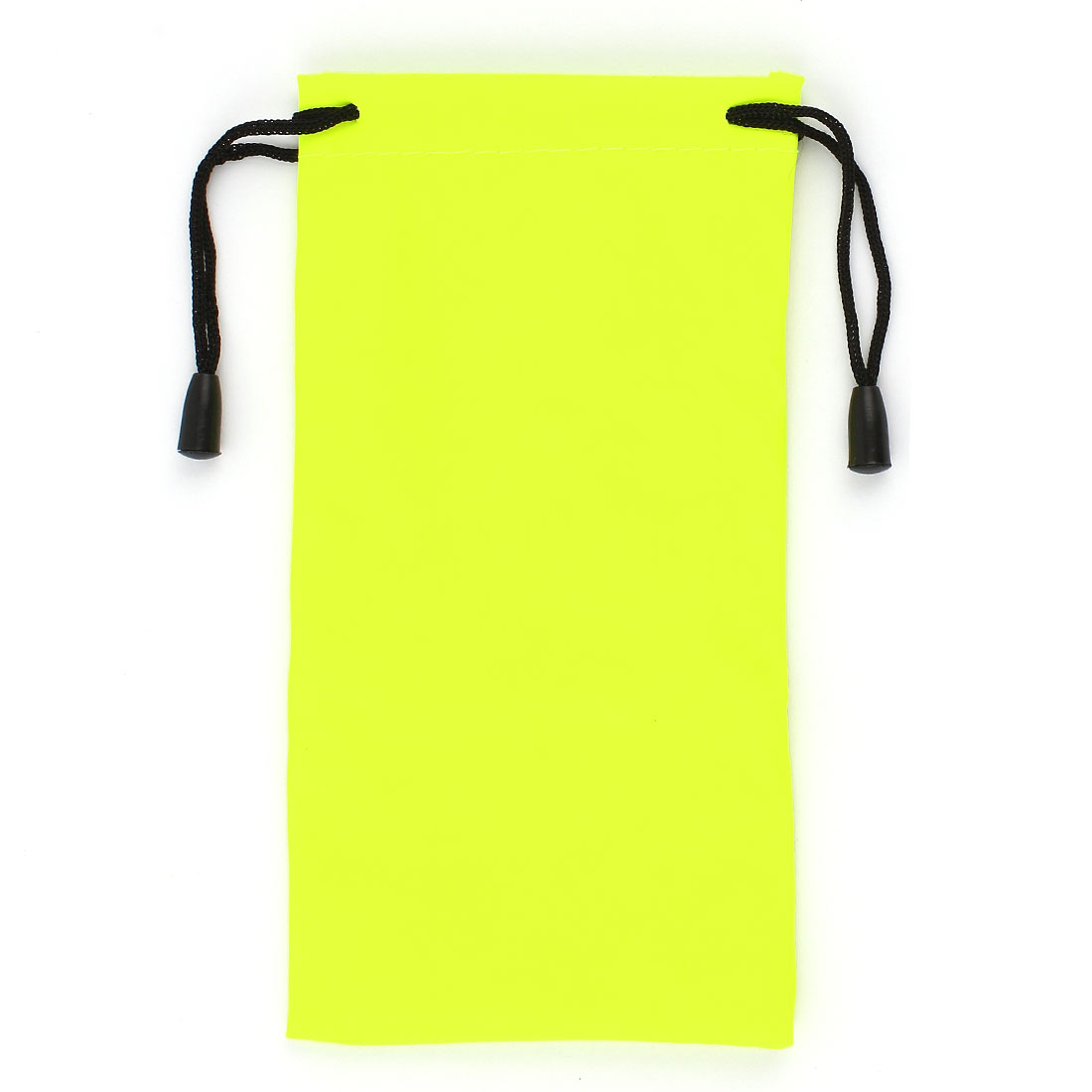 Traveling Cosmetic Storage Rectangular Drawstring Bag Fluorescent Green 17 x 8.5cm
