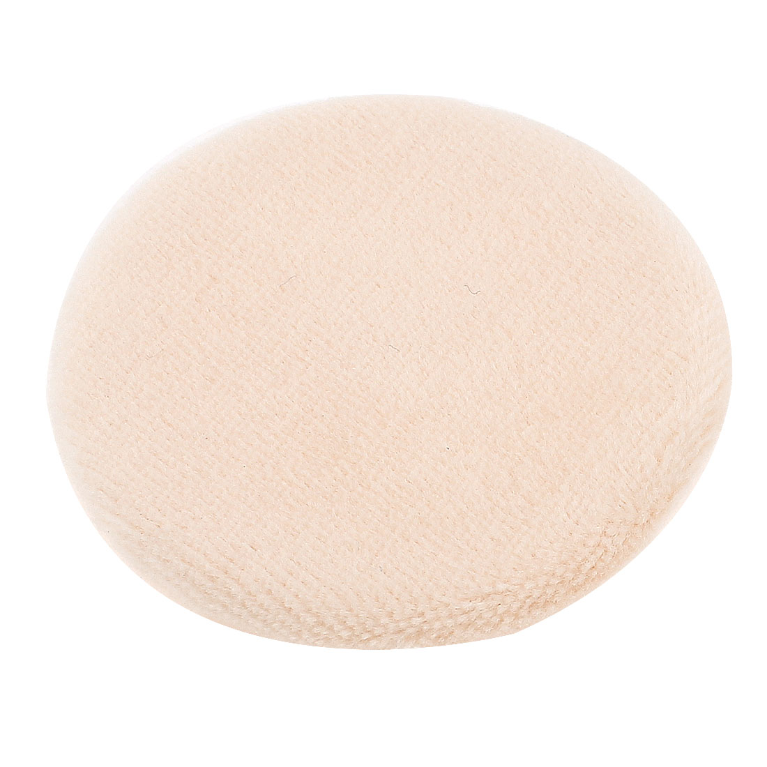 6cm Dia Circle Shaped Pale Apricot Sponge Powder Puff Pad Neat Pat for Lady