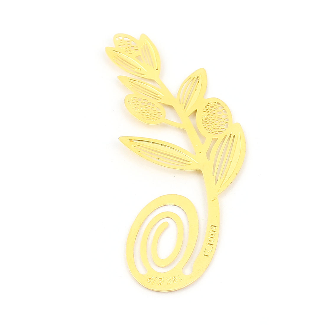 Gold Tone Metal Wheat Bookmark Bookmarker Decoration for Readers