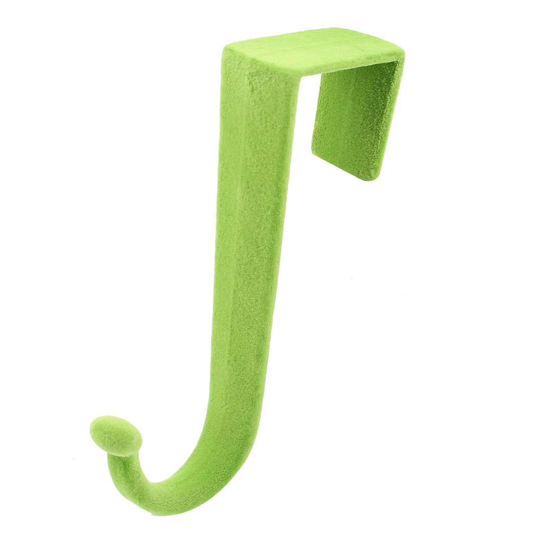 Green Plush Coated Plastic Over Wardrobe Doors Hooks Hanger Storage Holder