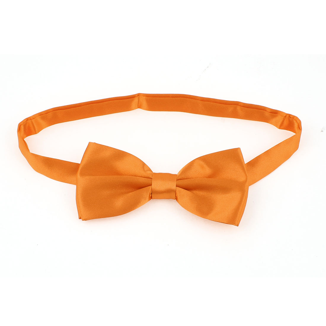 Metal Buckle Adjustable Strap Pet Dog Yorkie Puppy Collar Bowtie Necktie Orange
