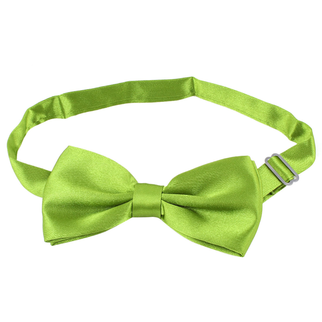 Metal Buckle Adjustable Strap Pet Dog Yorkie Puppy Collar Bowtie Necktie Olive Green