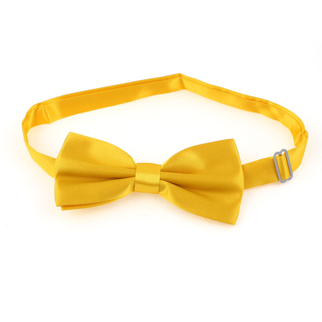 Metal Buckle Adjustable Strap Pet Dog Yorkie Puppy Collar Bowtie Necktie Yellow