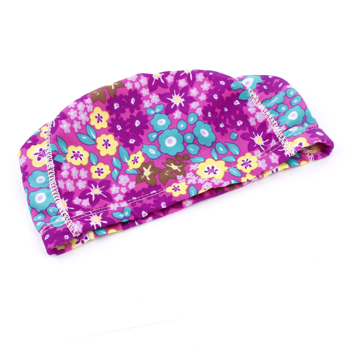 Colorful Flower Prints Stretch Swimming Hat Swim Cap for Woman