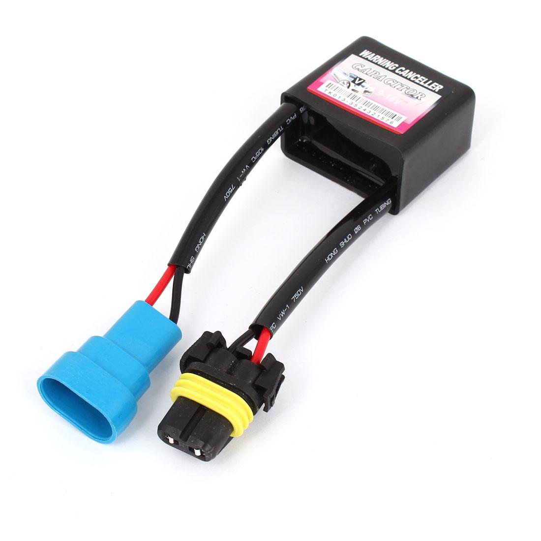 Black Warning No Error Decoder Canceller Capacitor 9-16V for 9006 HID Light