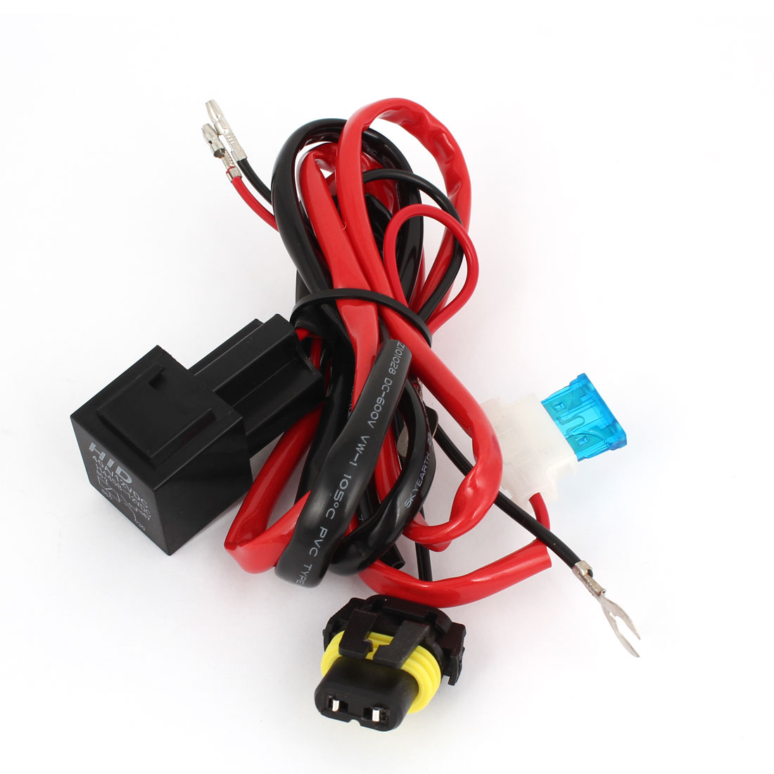 HID Xenon H4 Hi/Lo Bulbs Relay Controller Harness Cable DC12V 40A for Motorcycle