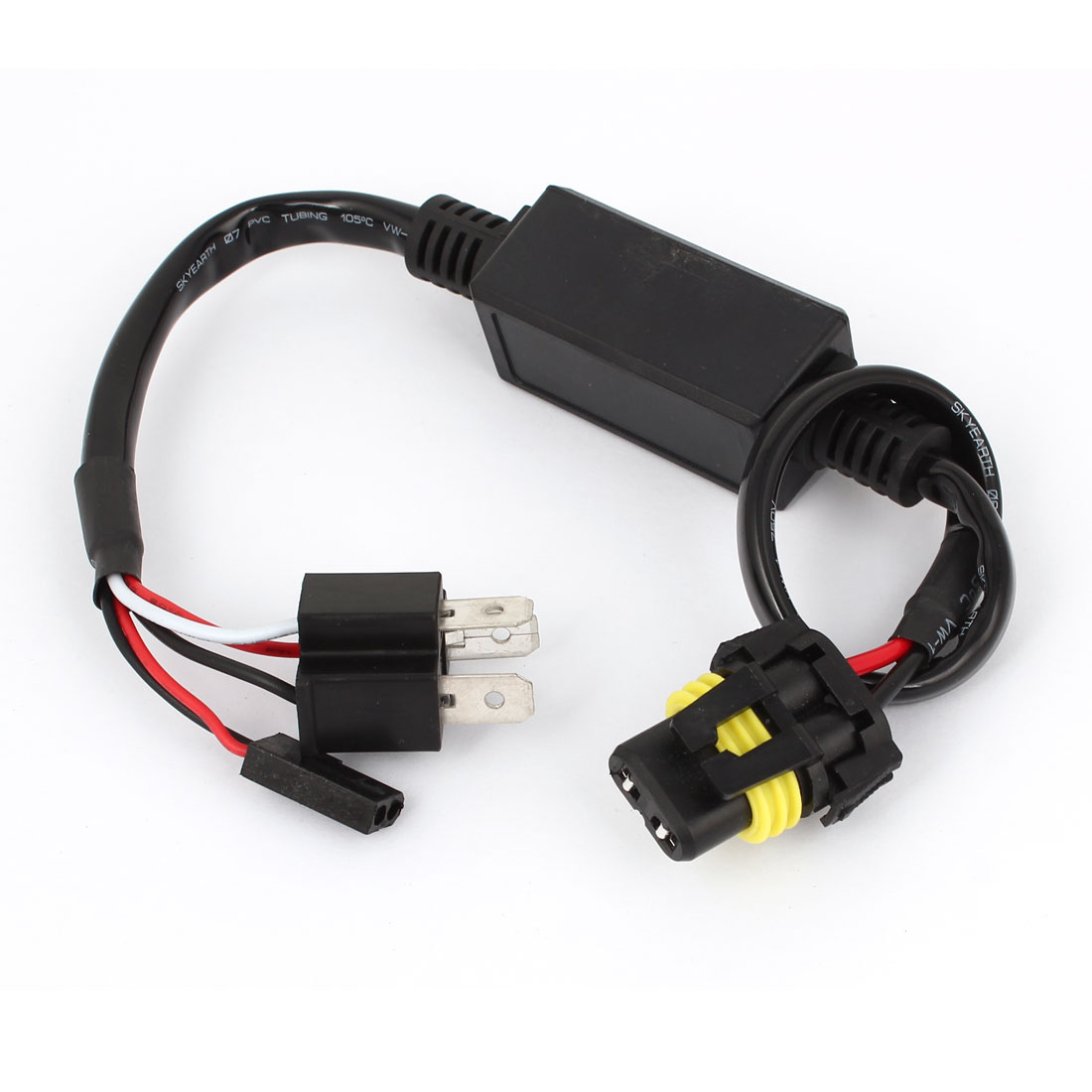 H4 9003 HB2 Wire Harness 12V for HID Ballast to Stock Socket Connector Plug