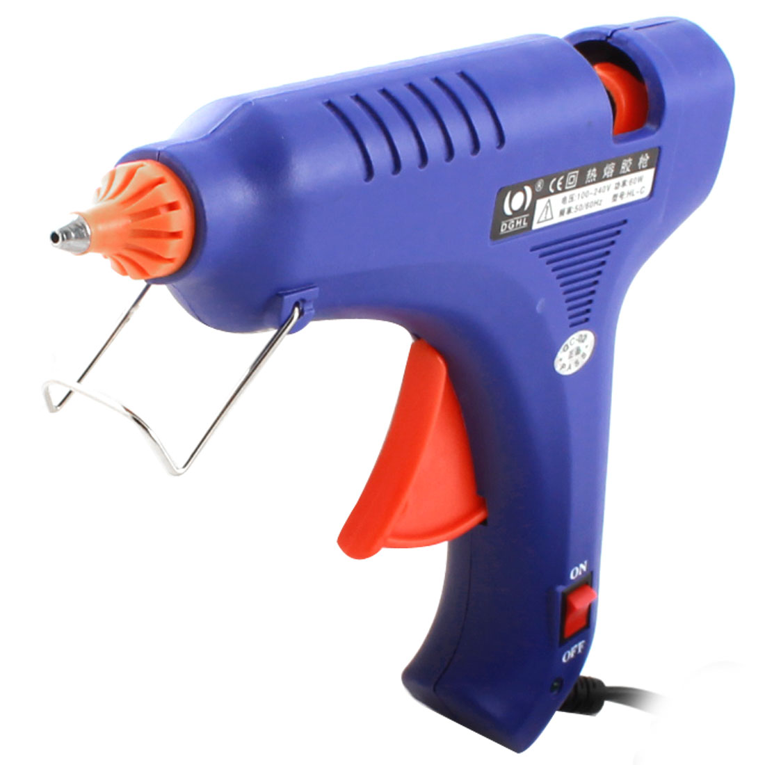 AC 100-240V US Plug 60W 2.5mm Tapered Nozzle Hot Melt Glue Gun HL-C