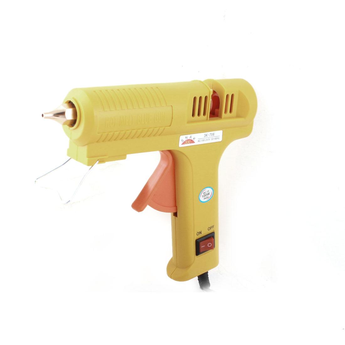 AC 100-240V US Plug Art Crafts Triggered Hot Melt Glue Gun 100W 3K-706