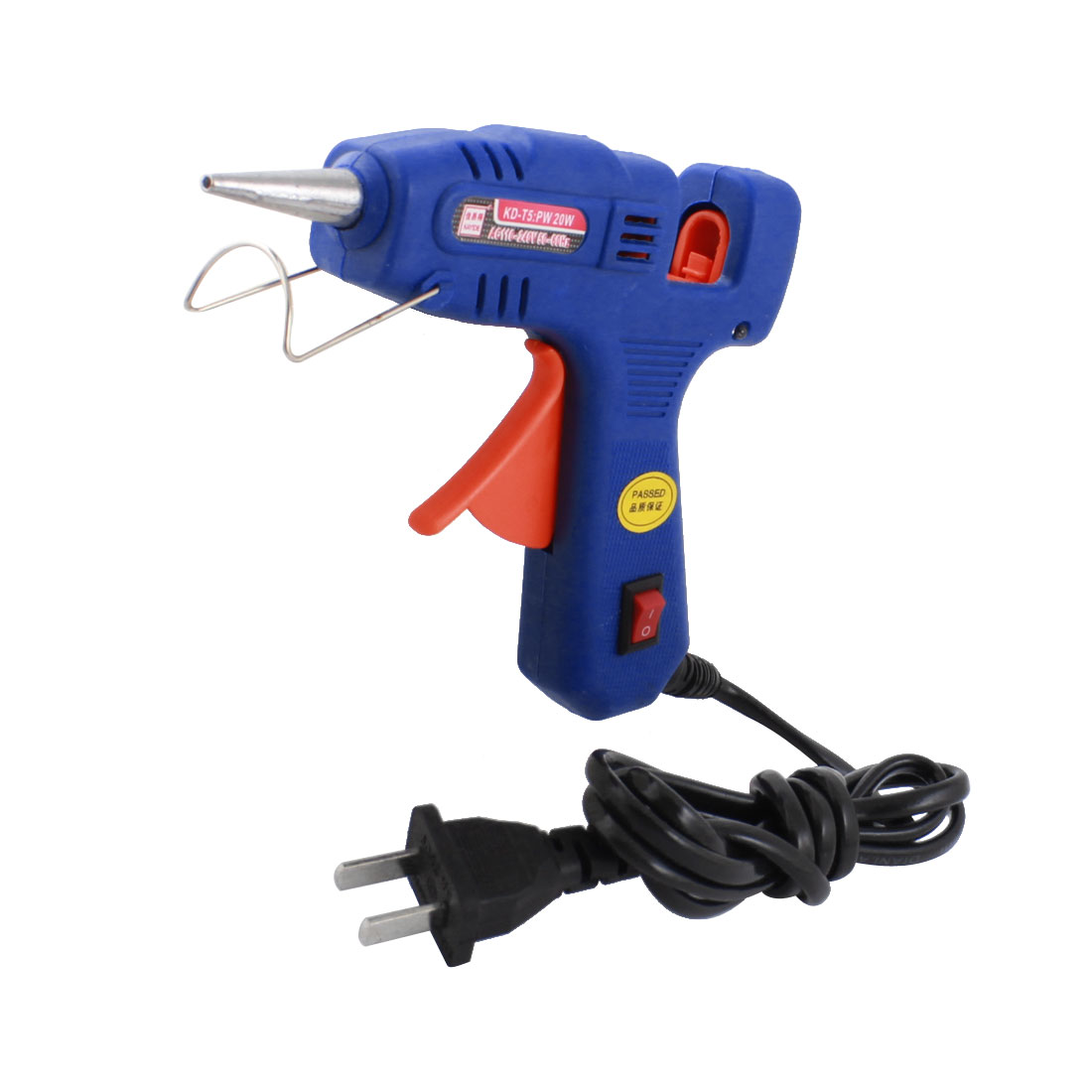 AC 110-240V US Plug 20W 2mm Tapered Nozzle Hot Melt Glue Gun KD-T5
