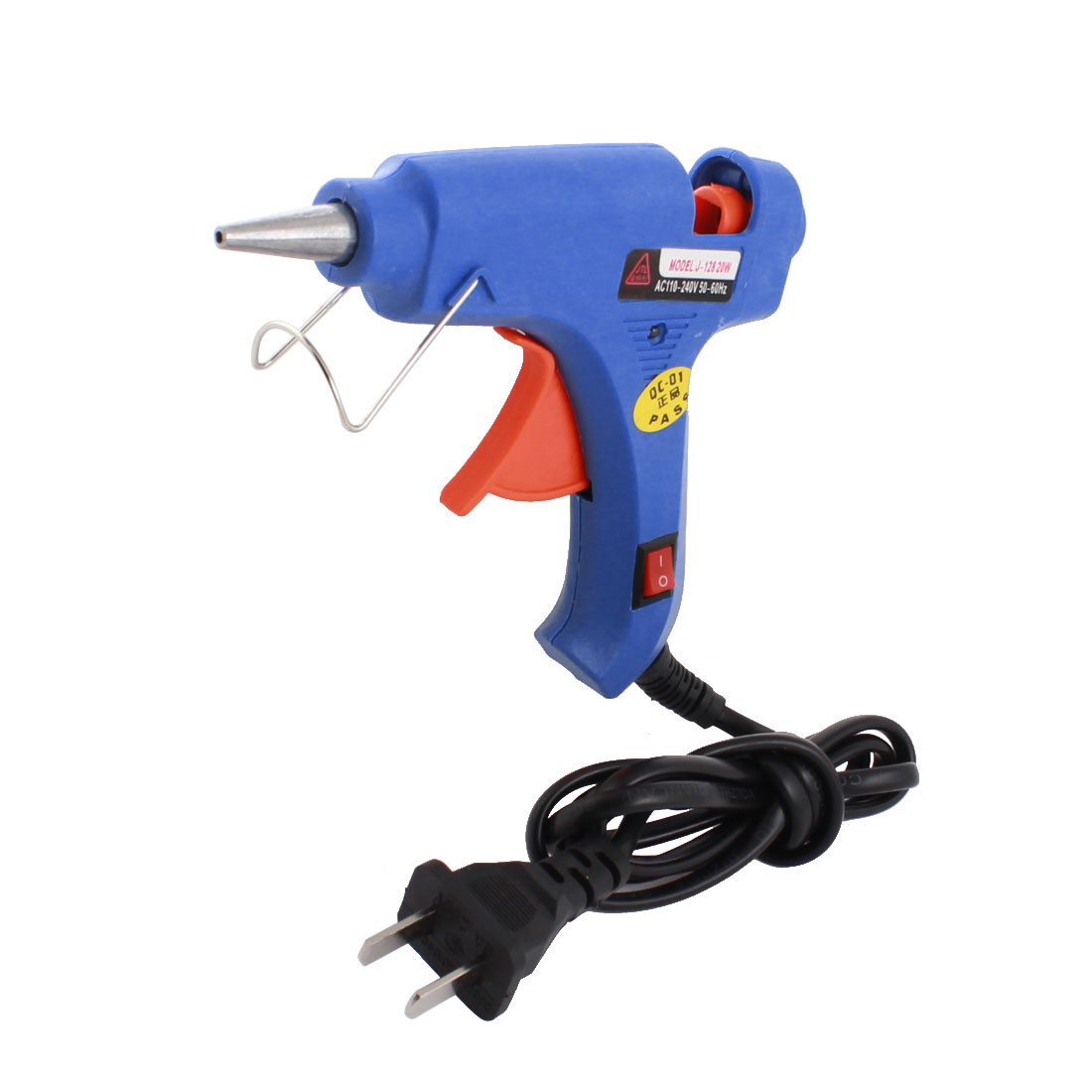 AC 110-240V US Plug 20W 2mm Tapered Nozzle Hot Melt Glue Gun J-128