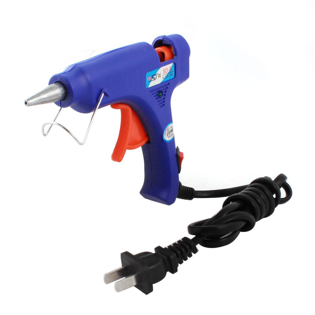 AC 100-240V US Plug 20W 2mm Tapered Nozzle Hot Melt Glue Gun SD-E