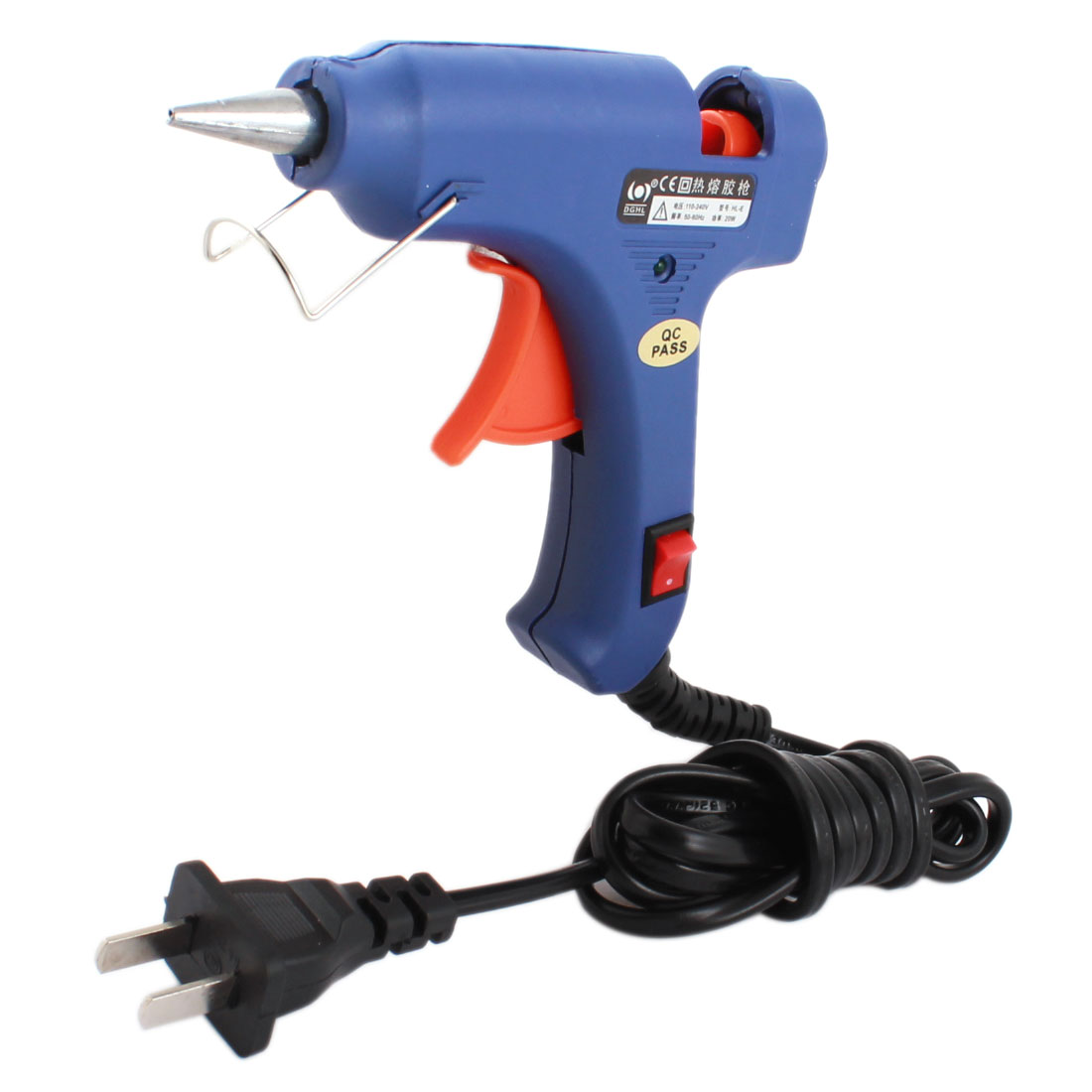 AC 110-240V US Plug 20W 2mm Long Tapered Nozzle Hot Melt Glue Gun HL-E