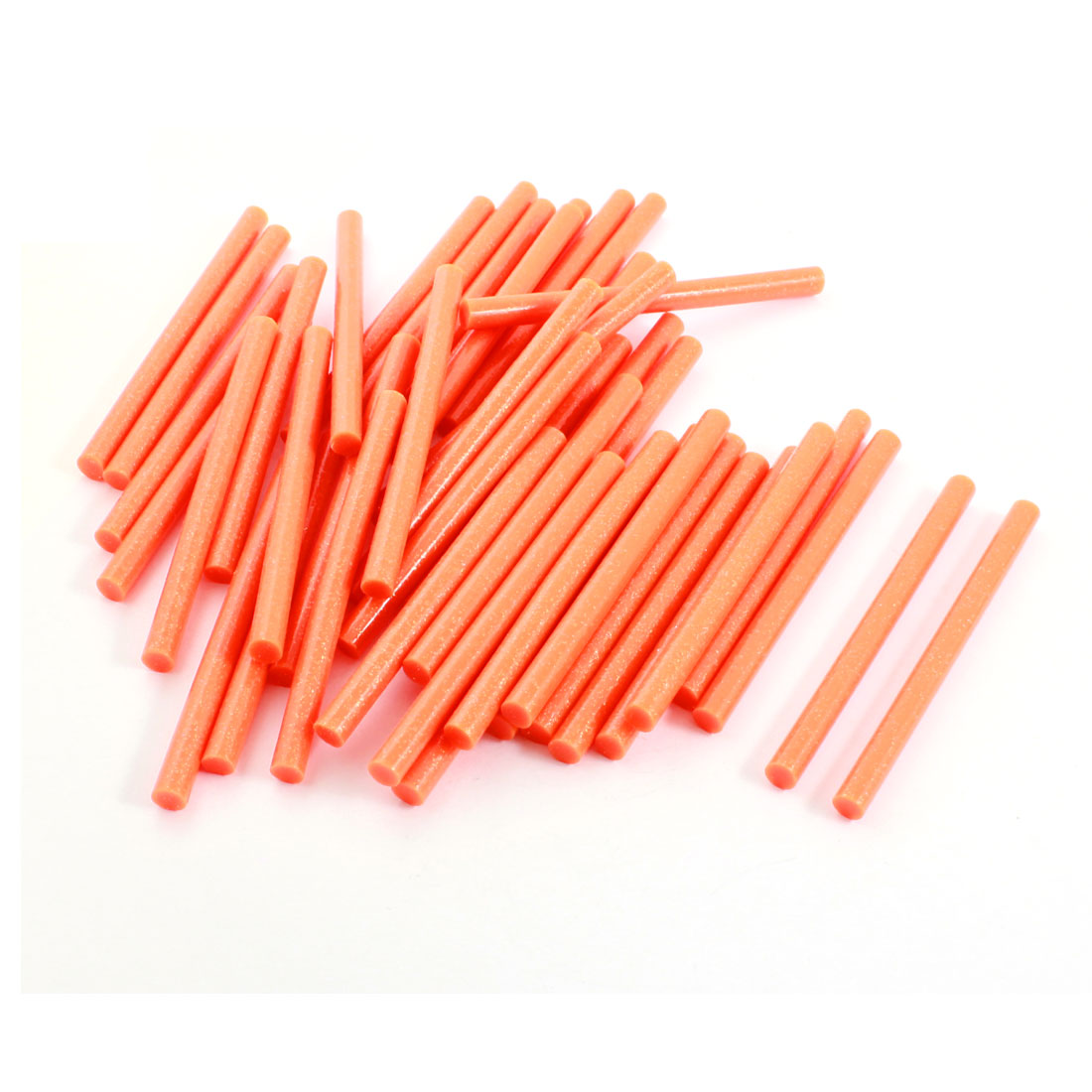 50Pcs 7mm Dia Orange Glitter Glue Adhesive Stick 100mm for Electric Hot Melt Gun