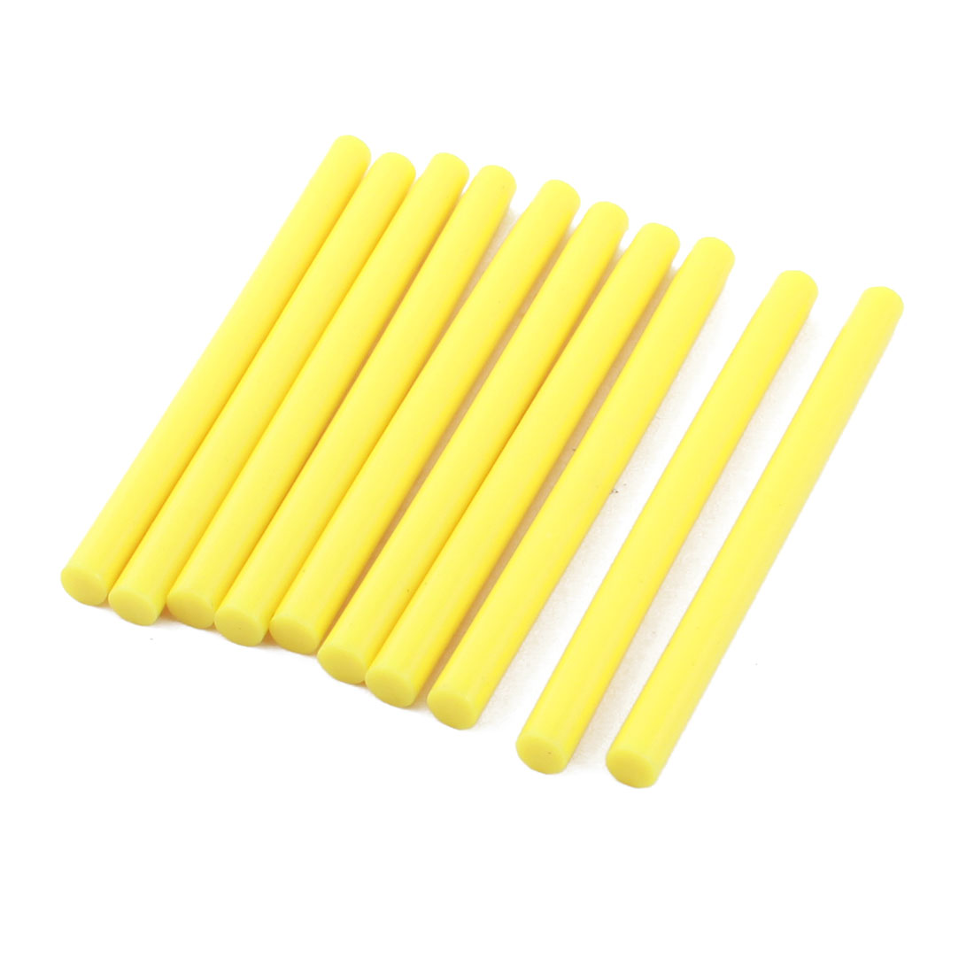 10 Pcs Yellow Hot Melt Glue Gun Adhesive Sticks 7mm x 100mm for Crafting Models