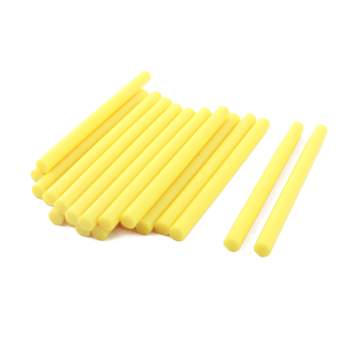 20 Pcs Yellow Hot Melt Glue Gun Adhesive Sticks 7mm x 100mm for Crafting Models