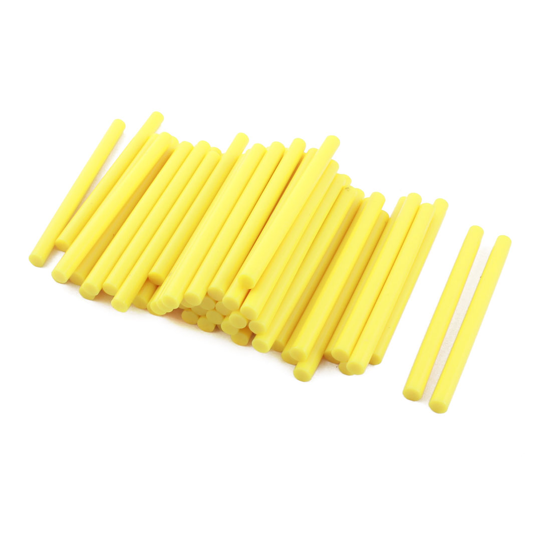 50 Pcs Yellow Hot Melt Glue Gun Adhesive Sticks 7mm x 100mm for Crafting Models