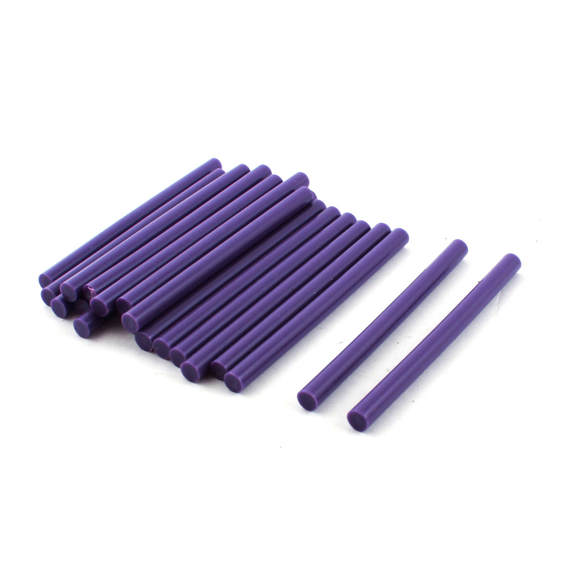 20 Pcs Purple Hot Melt Glue Gun Adhesive Sticks 7mm x 100mm for Crafting Models