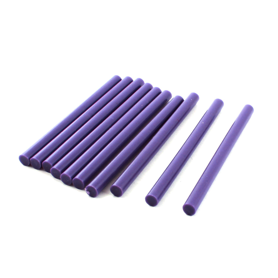 10 Pcs Purple Hot Melt Glue Gun Adhesive Sticks 7mm x 100mm for Arts Crafting