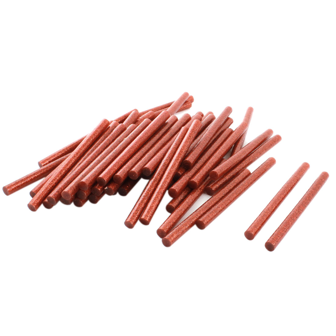 50Pcs 7mm Dia Red Glitter Glue Stick Adhesive 100mm Length for Electric Heating Hot Melt Gun
