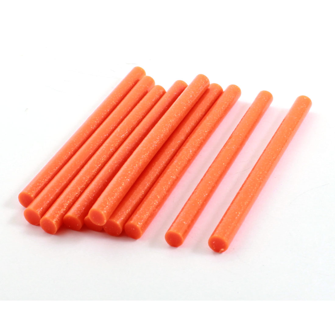 "10Pcs Orange Glitter Electric Tool Heating Gun Hot Melt Glue Adhesive Stick 0.28"" x 4"""