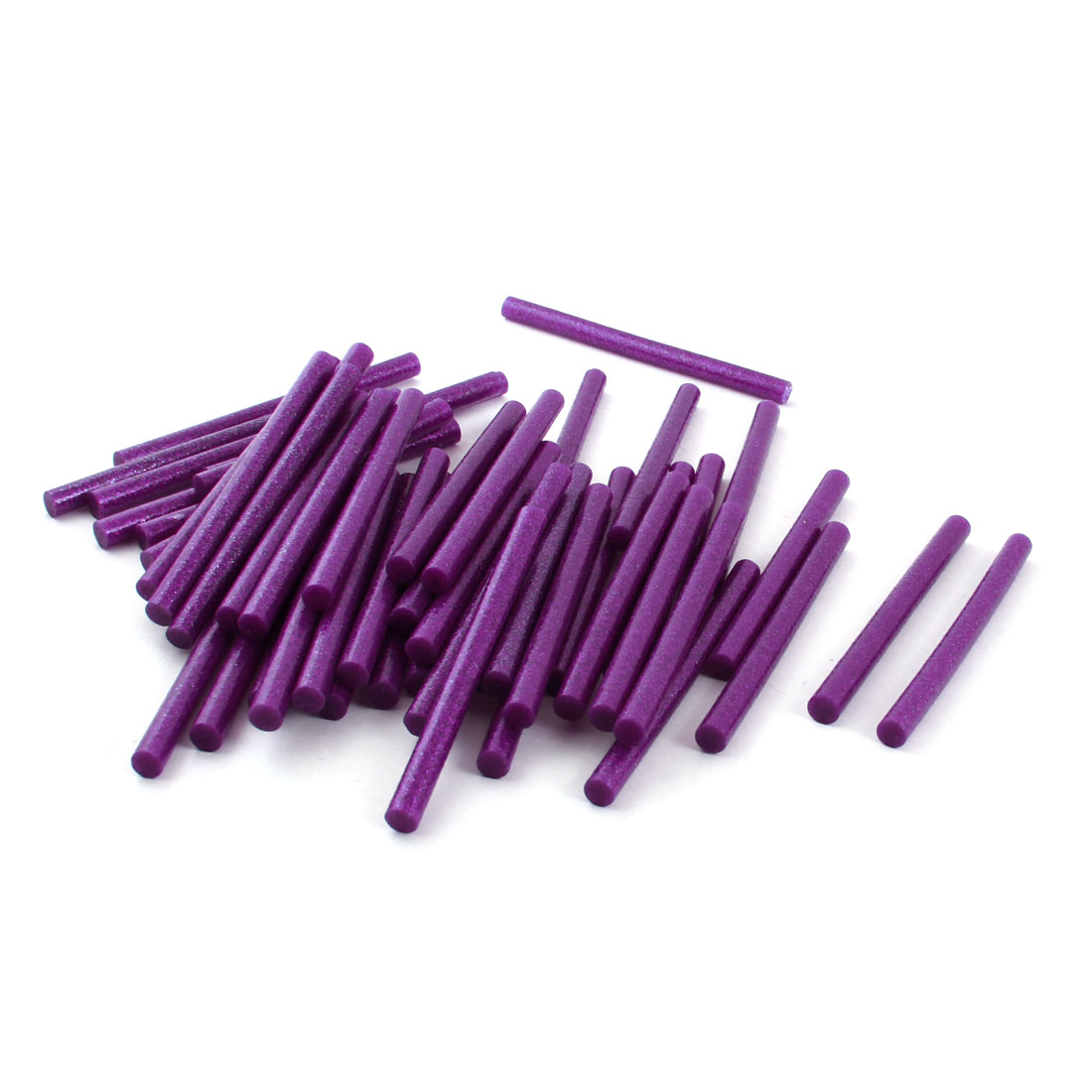 50Pcs 7mm x 100mm Purple Glitter Hot Melt Glue Adhesive Stick for Electric Tool Heating Gun