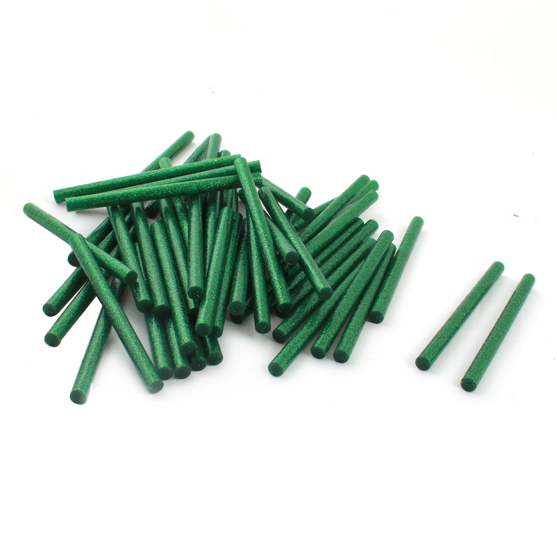 50 Pcs 7mm x 100mm Dark Green Glitter Electric Tool Hot Melt Gun Glue Adhesive Stick