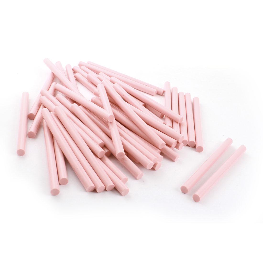 50 Pcs 7cm x 100mm Pink EVA Hot Melt Glue Gun Adhesive Sticks for Package Sealing