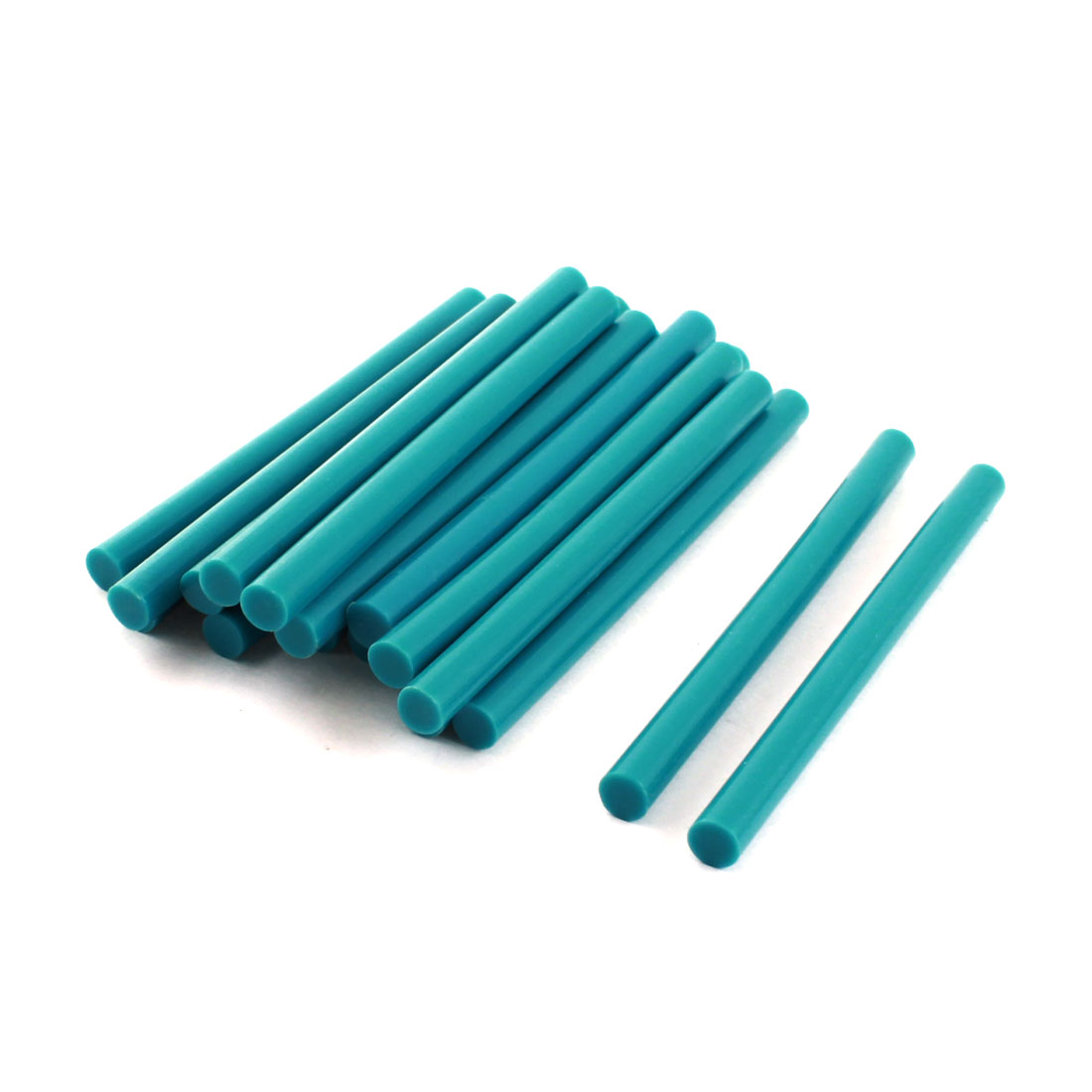 20 Pcs Turquoise Hot Melt Glue Gun Adhesive Sticks 7mm x 100mm for Arts Crafting